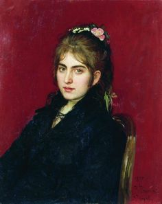 Portrait of Chuguev resident S.L. Lyubitskaya - Ilya Repin