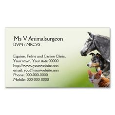 198 Best Veterinarian Business Cards Images In 2019 Business Cards