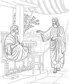Jesus Calls Matthew Coloring Page From Mission Period Category Select 30225 Printable Crafts Of Cartoons Nature Animals Bible And Many More