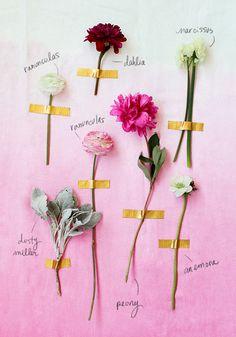 valentine floral guide for guys / designlovefest #FlowerShop