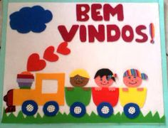 PROFESSORA MIRTES: VEJAM QUE LINDO O PAINEL DE BOAS VINDAS QUE… Handmade Books, Kids And Parenting, Art For Kids, Classroom, Drawings, Prints, Blog, Pasta, Ice