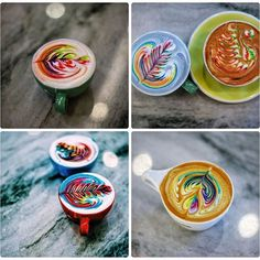 Pin for Later: This Latte Art Instagram Account Is So Pretty, You'll Wonder How People Even Drink the Coffee A collage of Salisbury's prettiest creations.