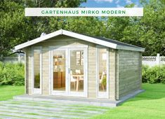 Alpholz Gartenhaus Mirko Modern B+C Shed, Outdoor Structures, Gable Roof, Figurine, Backyard Sheds, Coops, Barns, Tool Storage, Barn