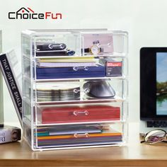 CHOICEFUN Best Selling Office Large Jewelry Box 5 Drawers Acrylic Cosmetic Organizer Glossy Makeup Organizer Drawers SF-1549-6 - ICON2 Luxury Designer Fixures  CHOICEFUN #Best #Selling #Office #Large #Jewelry #Box #5 #Drawers #Acrylic #Cosmetic #Organizer #Glossy #Makeup #Organizer #Drawers #SF-1549-6