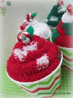 Holiday Sock Cupcakes, Sock Cupcakes, Stocking Stuffer, Christmas Gift, Christmas Party Favor