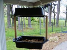 bird feeder utilizing recycled food containers