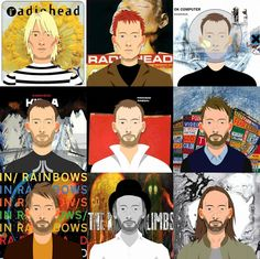 """from to (c) Joshua Forman"""" Music Tv, Music Stuff, Music Bands, Radiohead Poster, Gig Poster, Thom Yorke Radiohead, Music Maniac, Ok Computer, Band Posters"""
