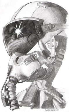 Combat Pilot by SaabGripen on DeviantArt Airplane Drawing, Airplane Art, Jet Fighter Pilot, Fighter Jets, Drawing Sketches, Art Drawings, Pilot Tattoo, Helmet Drawing, Witcher Wallpaper
