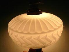 Lamp Shade アンティーク乳白色幾何学模様ランプシェード インテリア 雑貨 家具 Antique ¥19000yen 〆06月23日