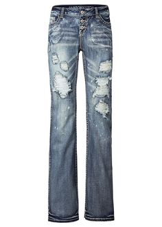 bonprix Jeans in blue denim Outfit, Bell Bottoms, Bell Bottom Jeans, Boho Chic, Skinny Jeans, My Style, Pants, Clothes, Products