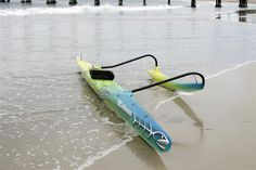 Yellow-Green-Blue gradient for canoe Kayak Outriggers, Outrigger Canoe, Sup Paddle, Hawaii Life, Dragon Boat, Canoe And Kayak, Small Boats, Water Crafts, Survival Gear