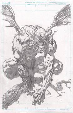 Fan Art by David Finch - Comic Tips Comic Book Artists, Comic Artist, Comic Books Art, Comic Drawing, Drawing Sketches, Art Drawings, Pencil Drawings, Character Design Cartoon, Character Art