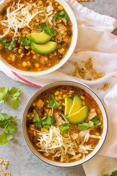 Leftover Turkey Tortilla Soup (Easy and Quick Recipe) - Little Broken Best way to use up Thanksgiving leftovers is with this leftover turkey tortilla soup. Super easy and quick recipe. Veggie Soup Recipes, Turkey Recipes, Healthy Dinner Recipes, Vegetarian Recipes, Thanksgiving Leftover Recipes, Thanksgiving Leftovers, Leftover Turkey, Quick Recipes, Yummy Recipes