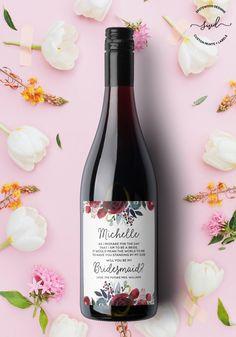 Mariage bouteille vin étiquettes pour Demoiselles d/'Honneur etc pour Gin Vodka etc Fiançailles Cadeau
