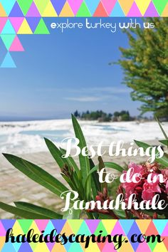 Get practical travel tips and guides to help you plan your visit to Pamukkale, Turkey, including Hierapolis, Clepoatra's Pool and the Travertines Thermal Hotel, Stuff To Do, Things To Do, Pamukkale, Turkey Travel, Terraces, Travertine, World Heritage Sites, Travel Inspiration