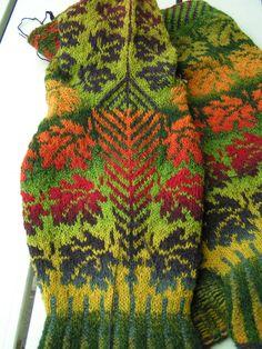 Ravelry: Autumn by Ruth Sorensen. Spectacular results using kauni yarn.