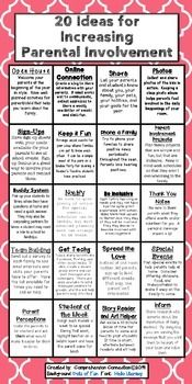 Print this freebie to share at your open house, post outside your classroom, or just to keep as a reminder to yourself of how you can involvement families into your classroom routine. For more parental involvement ideas, you can check out this blog post and other blog links to beef up your Parental Involvement program.