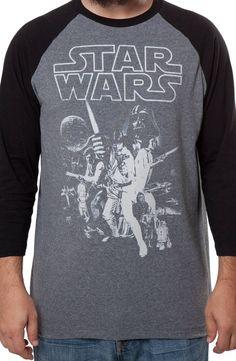 Star Wars Raglan: 80s Movies Star Wars Long Sleeve Shirts