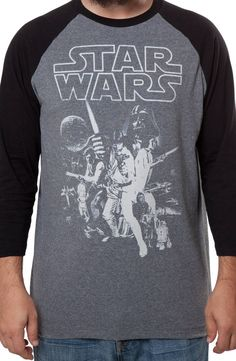 Star Wars Raglan: 80s Movies Star Wars Long Sleeve Shirts