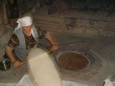 I LOVE this bread - Lavash, made in Armenia. It's my fav - as big as a coffee table and as thin as paper :)