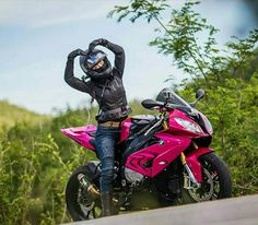 Motorcycles, bikers and Biker Chick, Biker Girl, Ducati Monster, Womens Motorcycle Helmets, Chicks On Bikes, Custom Sport Bikes, Motorbike Girl, Bmw S1000rr, Hot Bikes