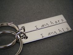 I am his I am Hers Keychains, Engraved Couples Keychains, Husband Gift Wife Gift, Couples Gift, His and Hers Keychains, mens gift
