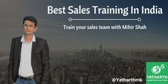 Your sales team is base of your company. They need a proper trainer who can train them in an effective way to do proper sales. Connect with Mihir Shah.  #salestraining #businesstraining #businesstips #salestips #FridayFeeling
