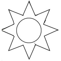 graphic relating to Sun Stencil Printable titled Sunshine Template Printable - Floss Papers