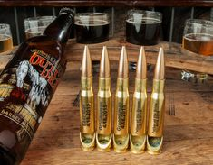 Made in USA Custom Engraved .50 Caliber Beer Bottle Openers! Perfect for Wedding / Bridal Party Gifts for the bestman, groomsman, father of the groom and bride!
