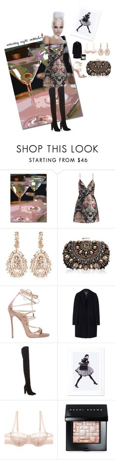 """""""saturday night cocktails"""" by ariel-stef on Polyvore featuring Trademark Fine Art, Zimmermann, Suzanne Kalan, Lipsy, Dsquared2, MSGM, Stuart Weitzman, iCanvas, Chantelle and Bobbi Brown Cosmetics"""