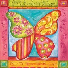 Art 4 Kids Way Cool Butterfly Wall Art - 21350 - Wall Art & Coverings - Decor Art Wall Kids, Home Wall Art, Canvas Wall Art, Butterfly Kids, Butterfly Wall Art, Kids Art Class, Art For Kids, 4 Kids, Classroom Walls