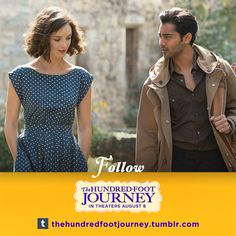 Are you ready to explore the South of France? Follow us on Tumblr and stir things up in The Hundred Foot Journey starring Danish Mayal and Charlotte Lebon.