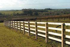 three rail fences | Timber Post Rail | Fencing West Sus/Gates/Railing/Panel