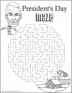 Printable President's Day Word Puzzles Help President Lincoln find his way back to his cabin. Printable Mazes, Printable Coloring Pages, Printables, Maze Worksheet, Worksheets, Presidents Week, George Washington Birthday, Puzzle Crafts, Word Puzzles