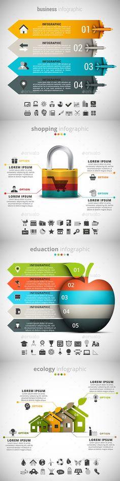 4 in 1 Infographics Bundle - Infographics
