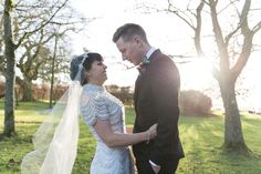 Bride and Groom from a Relaxed Winter Barn Wedding   Photography by http://www.vivaweddingphotography.com/