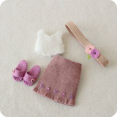 Bohemian Outfit pdf Pattern for Pocket Poppet Doll by Gingermelon