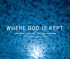 Just 98 words that tell the story of where god is kept. Enjoy! #microfiction #flashfiction
