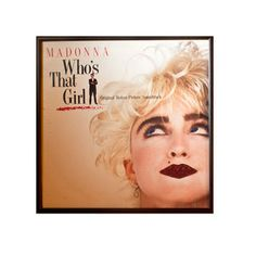 "Madonna Whos That Girl Single,  Just ask Michel Rosenthal how she came up with the idea of bedazzling vintage LP covers with glitter and she'll tell you of her ""glitter epiphany"": While working on a line of glitzy resin jewelry, she glanced up at the collection of albums on the wall of her studio. Eureka! Glitter and music—it was a match made in glam heaven. Rosenthal quickly changed her jazzy tune from jewels to records, and has been strategically sparklifying LPs ever since."