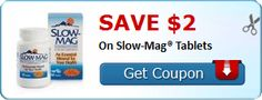 New Coupon!  SAVE $2.00 On Slow-Mag® Tablets! - http://www.stacyssavings.com/new-coupon-save-2-00-on-slow-mag-tablets/