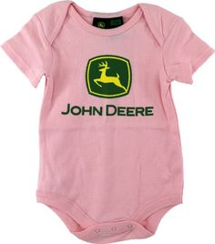 "John Deere ""Classic Logo"" Pink for Adda Infant Girls, Baby Girl Newborn, John Deere Baby, Camo Kids, Logo Pink, Little Baby Girl, Niece And Nephew, Cute Baby Clothes, Funny Babies"