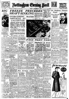 Nottingham Evenign Post 1948 - Calverton Colliery Headline Nottingham, Event Ticket, Lace, Racing