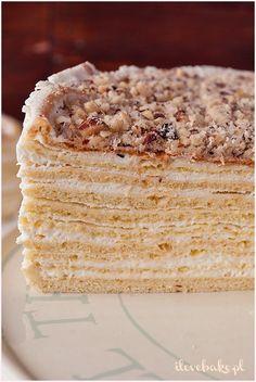 Ciasto Marcinek - I Love Bake Sweet Recipes, Cake Recipes, No Bake Desserts, Vanilla Cake, Favorite Recipes, Sweets, Bread, Baking, Food