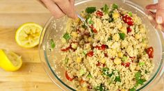 """On weeknights, every minute counts, and if Mom and Dad don't need to turn on the stove, that's precious moments saved! Jessica Seinfeld's couscous salad with chickpeas, tomatoes, and mint doesn't require any oven time, as it simply uses hot tap water for making the couscous. Packed with protein and flavor, Jessica says, """"it's also perfect the next day for a brown-bag lunch."""" Source: Do It Delicious"""