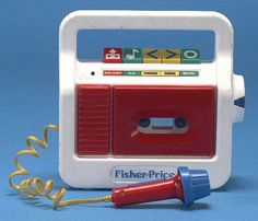 Fisher Price Tape Recorder.. Memories of making songs and talking with Katie and childhood friend Rachel Bartelt