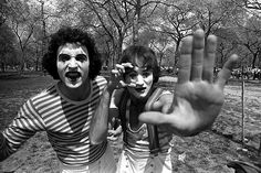 Mime in Central Park, 1975