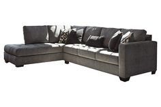 Charcoal Owensbe 2-Piece Sectional View 2