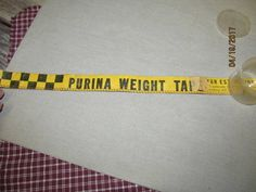 Vintage Purina / USDA Cloth Weight Tape for Estimating Cattle Weight Gains by EvenTheKitchenSinkOH on Etsy