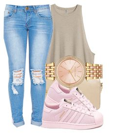 """""""✨"""" by eazybreezy305 on Polyvore featuring MICHAEL Michael Kors, adidas, Michael Kors, cute and summer2016"""