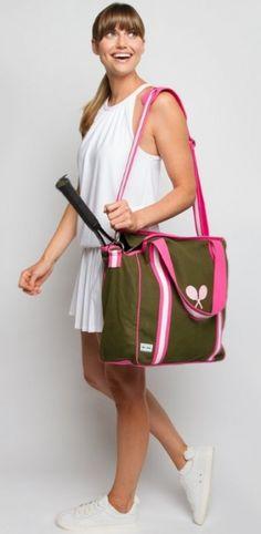 Ame & Lulu Ladies Vintage Sport Tennis Tote Bags - Ollie